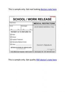 doctors note pdf doctors note pdf