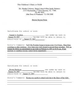 doctors note pdf sample doctors note