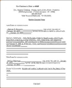 doctors note template for work doctors note template pdf doctor note template