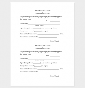 doctors note template free download doctor appointment letter to school