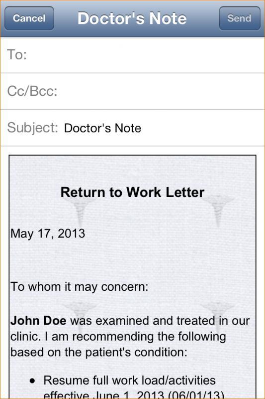 doctors notes for school
