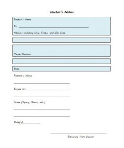 doctors notes templates bonus doctor notes template