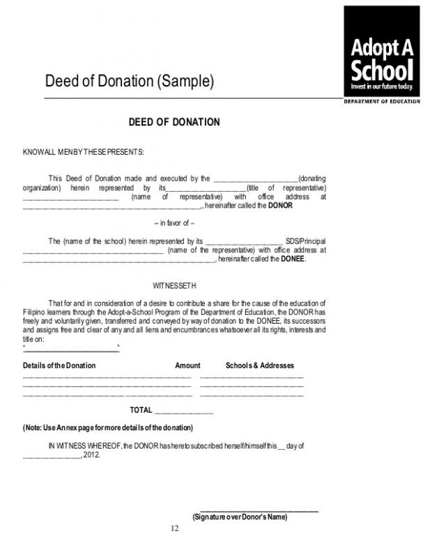donation acknowledgement letter