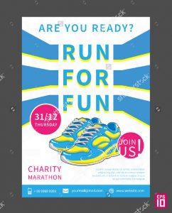 donation flyer template charity marathon flyer template