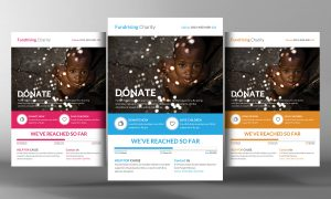 donation flyer template mockups o