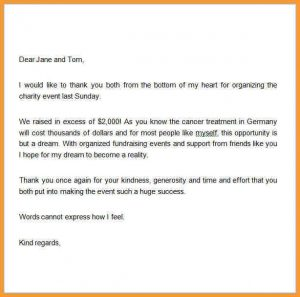 donation letter format thank you letter donation thank you letter for donation