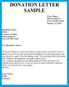 Donation letter sample template business donation letter sample letter asking for donations image spiritdancerdesigns Choice Image