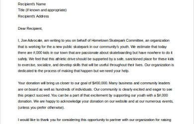 donation letter sample sample letter asking for donations from businesses word doc