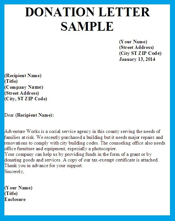 Donation Letter Template  Donations Template