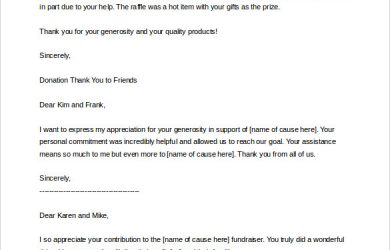 donation letter template thank you letter for donation of money