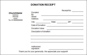 donation receipt template church donation receipt template