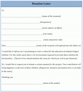 donations letter example donation letter template x