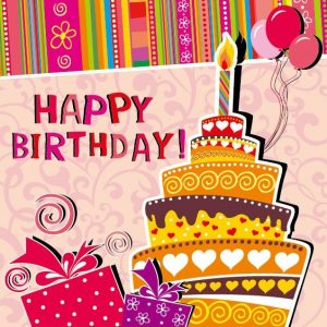 download birthday card cartoon birthday card vector