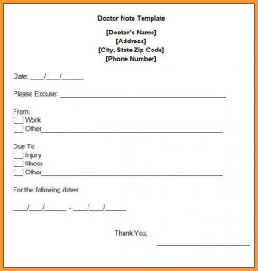dr excuse template urgent care doctors note free doctors note template