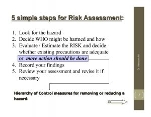 dr note template a simplified guide to risk assessment in occupational health safety
