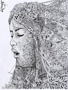 drawing for beginners pdf woman doodle art by andrew castillo preview