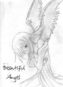 drawing of angels beautiful angel drawing by vashta nerada ditl