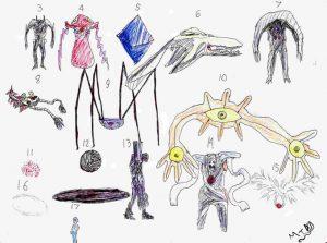 drawing of angels neon genesis angels by weird eye