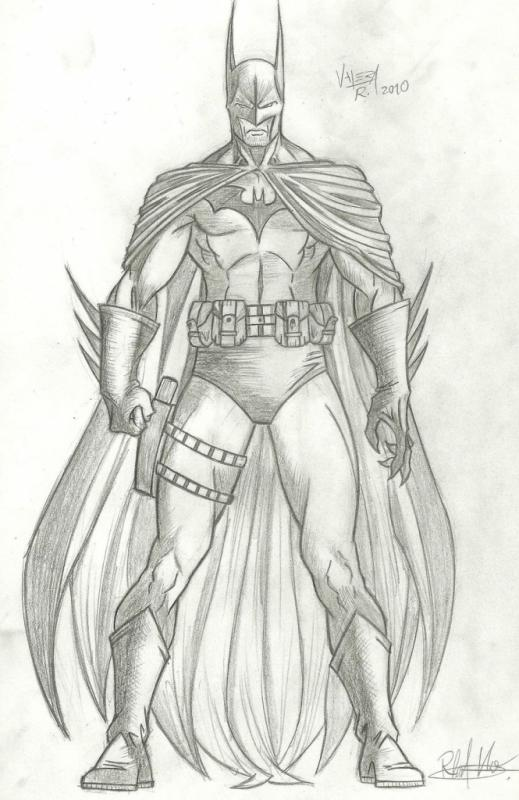 drawing of batman