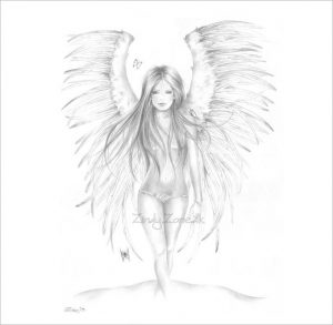 drawings of angels angel of beauty