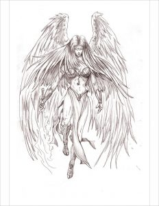 drawings of angels angel pencil