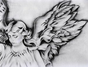 drawings of angels angel wings monica magallon