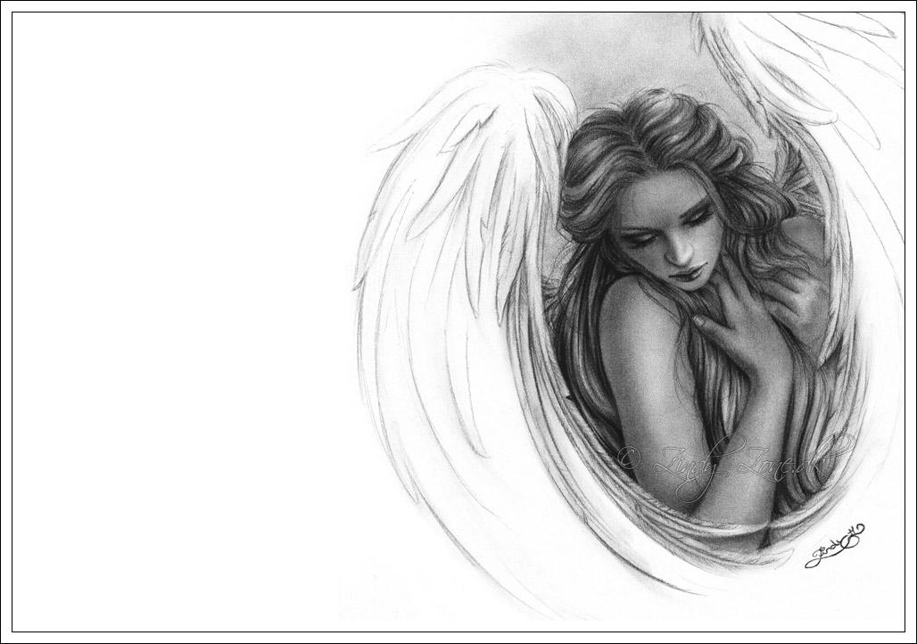 drawings of angels