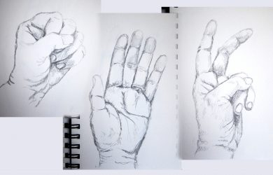 drawings of hands hands