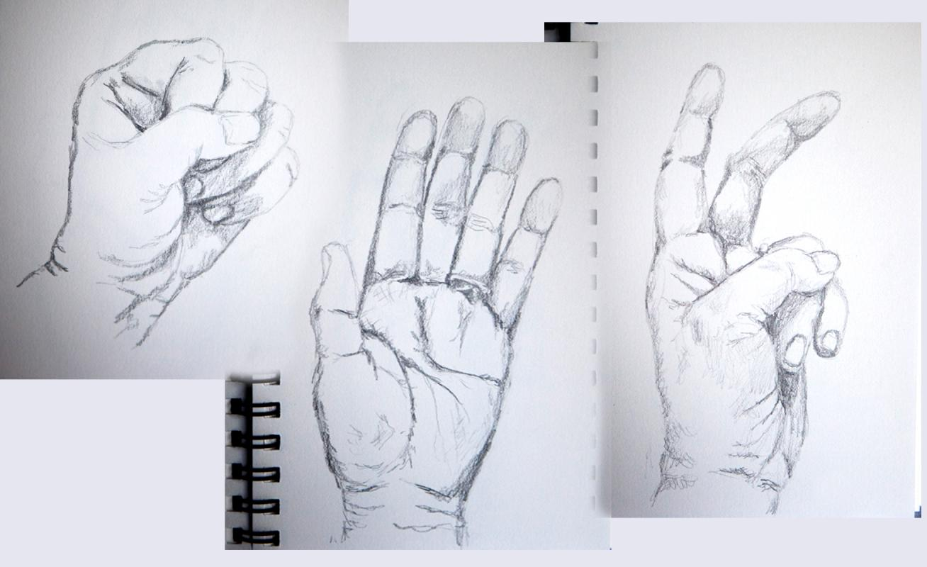 drawings of hands