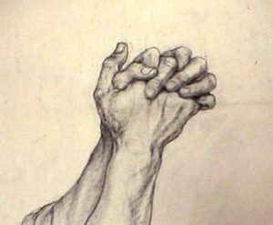 drawings of hands prayinghands