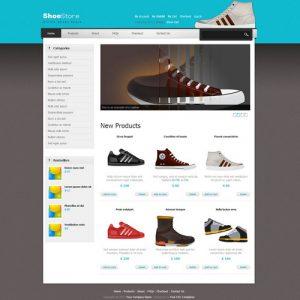 dream weaver website templates ecommerce shoes