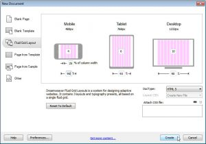 dream weaver website templates fluid grid dreamweaver cs