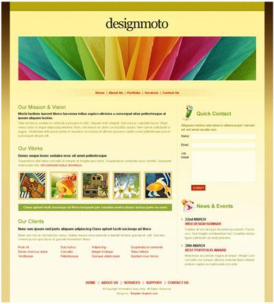 dream weaver website templates