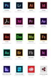 dreamweaver website templates adobe cc app icons