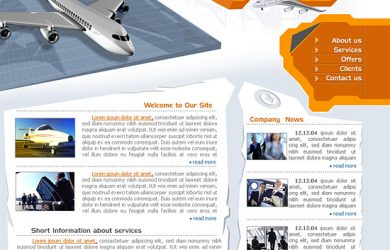 dreamweaver website templates privateairline