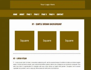 dreamweaver website templates simple brown