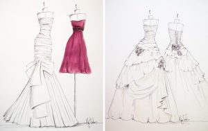 dress designing sketches design your own bridesmaid dress