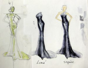 dress designing sketches lame sequinblackdresssmallfile