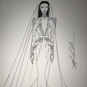 dress designing sketches michael costello sketch nicole williams wedding dress sq