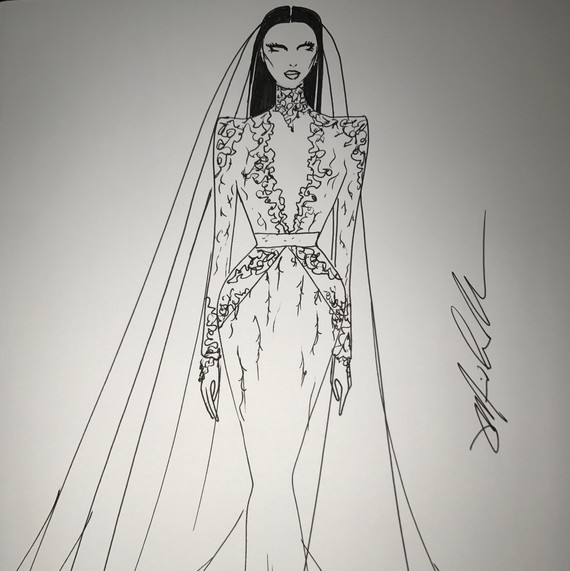 dress designing sketches