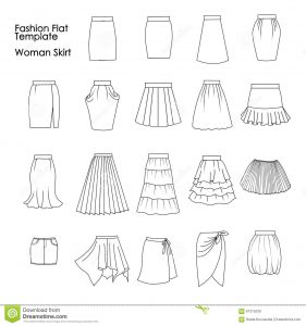 dress designing sketches set fashion flat templates sketches woman skirts collection template