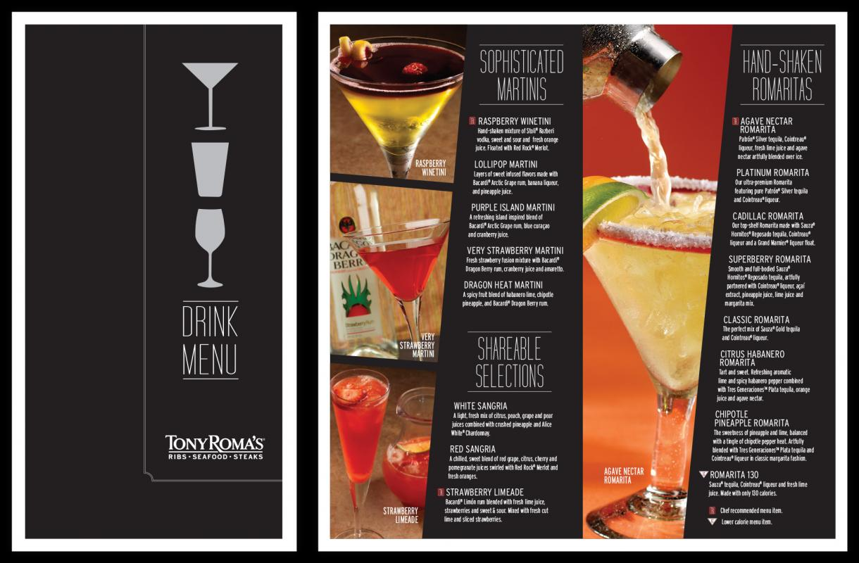 drink menu design