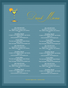 drink menu template drink menu template for word