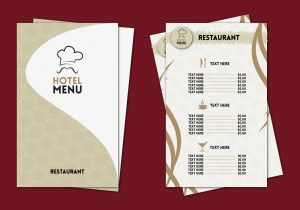drink menu templates hotel menu professional template vector