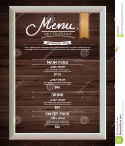 drinks menu template menu restaurant hipster style infographic