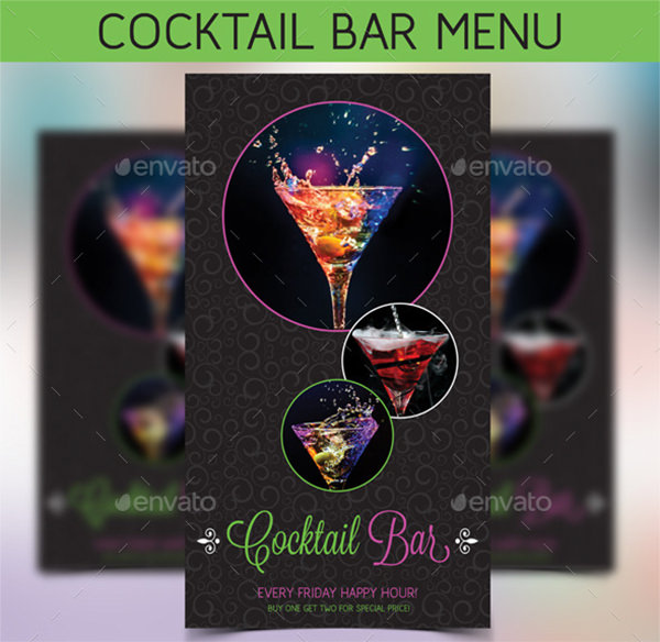 drinks menu templates