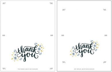 drug card template printable thank you cards free black and white