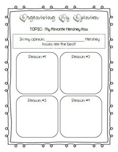 early childhood lesson plans valentines day hershey kiss opinion writing graphic organizer