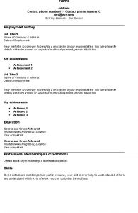 easy resume template simple resume sample