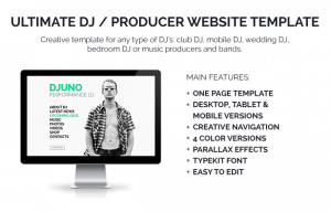 ecommerce website template djuno description